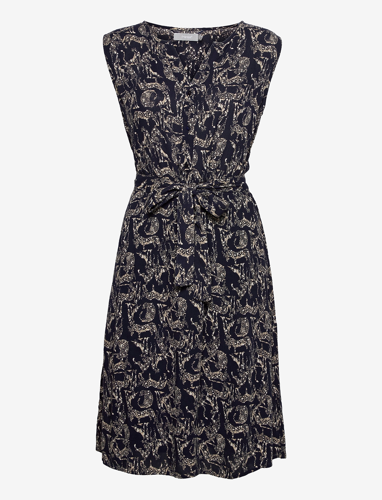 Fransa - FRALCRINKLE 3 Dress - zomerjurken - navy blazer mix - 0