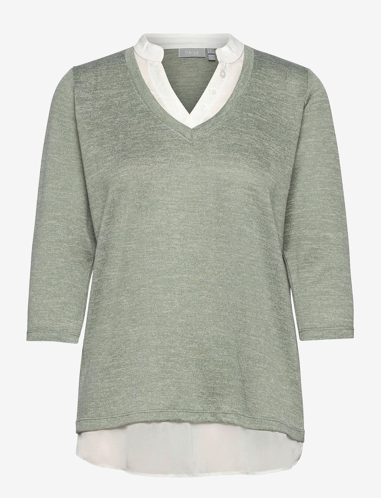 Fransa - FRVEREXAN 1 Pullover - truien - lily pad melange - 0