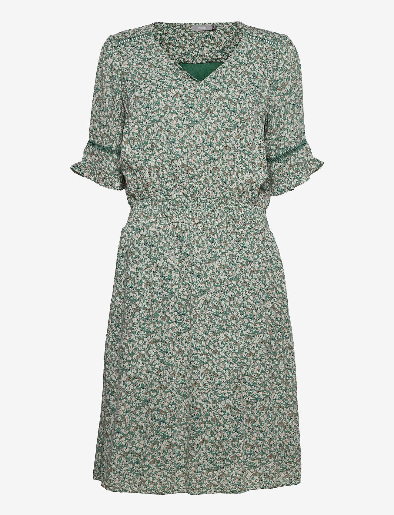 Fransa - FRALCRINKLE 5 Dress - zomerjurken - clover green mix - 0