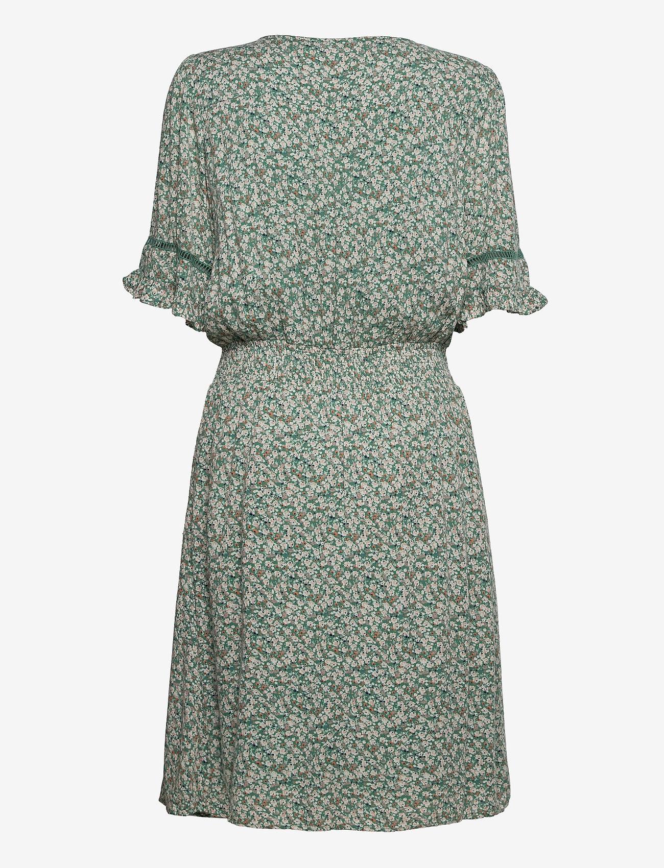 Fransa - FRALCRINKLE 5 Dress - zomerjurken - clover green mix - 1