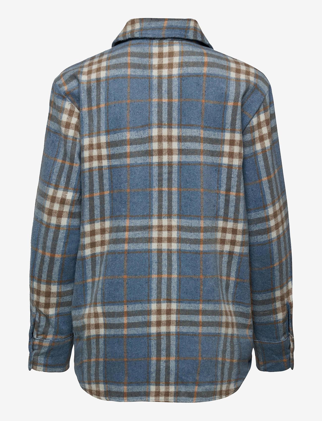 Fransa - FXTEJACKET 1 Shirt - overshirts - dusty blue mix - 1
