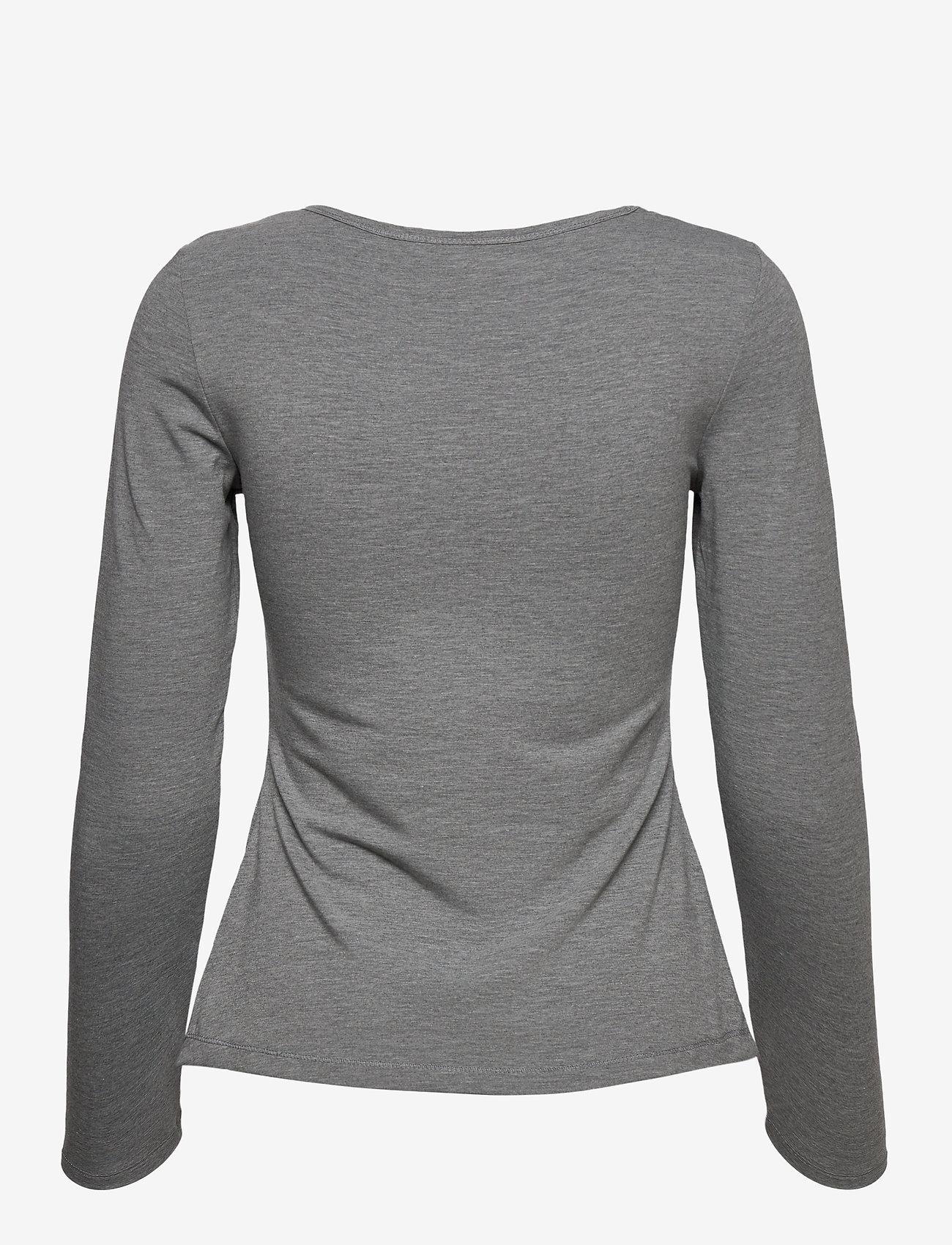 Fransa - Kasic 1 Tshirt - pitkähihaiset t-paidat - asphalt melange - 1