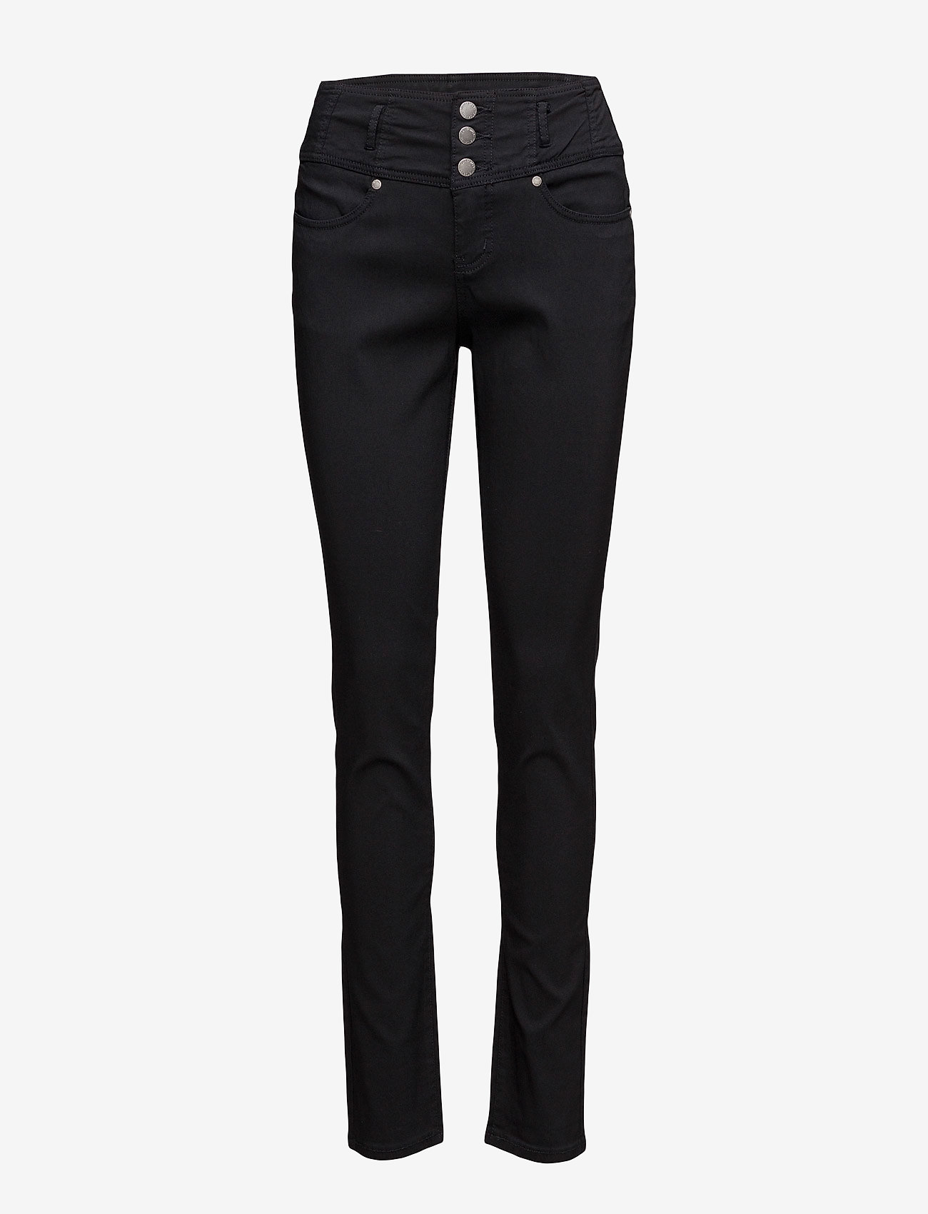 Fransa - Zalin 2 Pant - trousers with skinny legs - black - 0