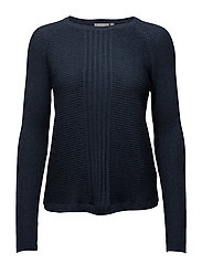 Miturned 1 Pullover - BLACK IRIS MELANGE