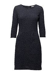 Nijacquard 1 Dress - BLACK IRIS MELANGE