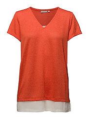 Nirex 1 T-shirt - CHERRY TOMATO MELANGE