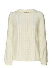 Rehairy 1 Pullover - GARDENIA