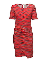 FXTirey 2 Dress - FIERY RED MIX