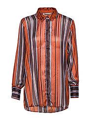 FRGASTRIPE 4 Shirt - CARAMEL CAFé MIX