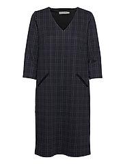 FRMECHECK 2 Dress - NAVY BLAZER MIX