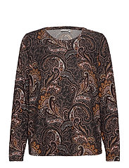 FRMESOFT 1 Pullover - BLACK PAISLEY MIX