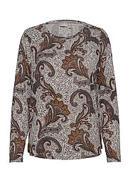 FRMESOFT 1 Pullover - LIGHT GREY MEL. W. PAISLEY
