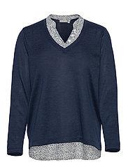 FRPEREXAN 1 Pullover - NAVY BLAZER MELANGE