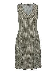 FRAMDOT 3 Dress - DUSTY OLIVE GRAPHIC MIX
