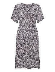 FRALCRINKLE 2 Dress - NAVY BLAZER WITH FLOWERS
