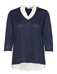 FRVEREXAN 1 Pullover - NAVY BLAZER MELANGE