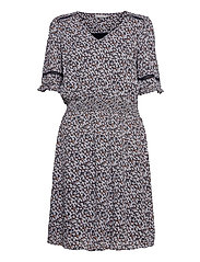 FRALCRINKLE 5 Dress - NAVY BLAZER WITH FLOWERS