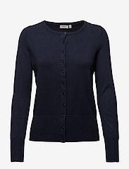 Fransa - Zubasic 60 Cardigan - cardigans - black iris - 0