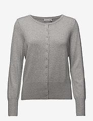 Fransa - Zubasic 60 Cardigan - cardigans - light grey melange - 0
