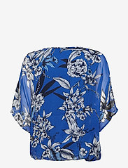 Fransa - Pachif 2 Top - long sleeved blouses - surf blue mix - 1