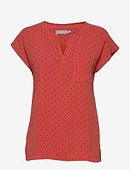 Fransa - Zawov 8 Top - blouses met korte mouwen - dot - baked apple - 0