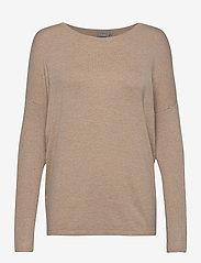 Fransa - ZUVIC 175 Pullover - jumpers - beige melange - 0