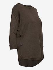 Fransa - ZUBASIC 109 Pullover - jumpers - green ink - 3