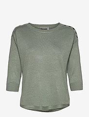 Fransa - ZUBASIC 114 Pullover - jumpers - lily pad - 0