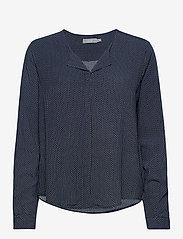 Fransa - FRHAZAVISK 1 Shirt - blouses met lange mouwen - navy blazer mix - 0