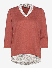 Fransa - FRLEREXAN 1 Blouse - jumpers - barn red melange - 0