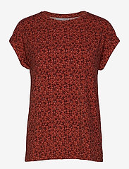 Fransa - FRLESEEN 1 T-shirt - t-shirts - barn red mix - 0