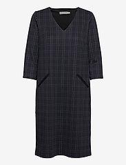 Fransa - FRMECHECK 2 Dress - midi jurken - navy blazer mix - 0