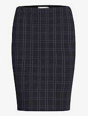 Fransa - FRMECHECK 4 Skirt - pencil skirts - navy blazer mix - 0