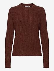 Fransa - FRMEBLOCK 1 Pullover - jumpers - chocolate fondant melange - 0