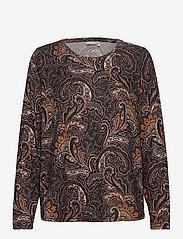 Fransa - FRMESOFT 1 Pullover - pitkähihaiset t-paidat - black paisley mix - 0