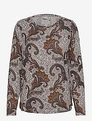 Fransa - FRMESOFT 1 Pullover - langermede topper - light grey mel. w. paisley - 0