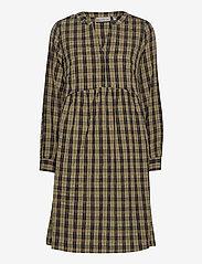 Fransa - FXTICHECKED 1 Dress - midi jurken - hedge mix - 0