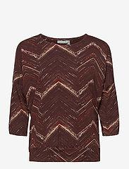 Fransa - FRMETRIBE 2 T-shirt - pitkähihaiset t-paidat - chocolate fondant mix - 0