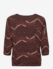 Fransa - FRMETRIBE 2 T-shirt - pitkähihaiset t-paidat - chocolate fondant mix - 1