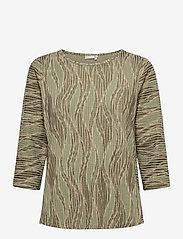 Fransa - FRPEMISO 1 T-shirt - pitkähihaiset t-paidat - hedge mix - 0