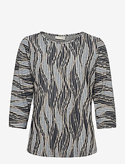 Fransa - FRPEMISO 1 T-shirt - pitkähihaiset t-paidat - navy blazer mix - 0