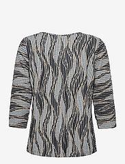 Fransa - FRPEMISO 1 T-shirt - pitkähihaiset t-paidat - navy blazer mix - 1