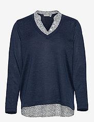 Fransa - FRPEREXAN 1 Pullover - jumpers - navy blazer melange - 0