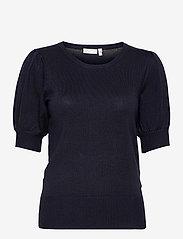 Fransa - ZUBASIC 135 Pullover - strikkede toppe - dark peacoat - 0