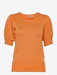 Fransa - ZUBASIC 135 Pullover - strikkede toppe - dusty orange - 0