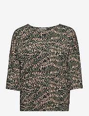 Fransa - FRPETRIBE 2 T-shirt - pitkähihaiset t-paidat - green animal mix - 0