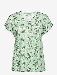 Fransa - FRVEIREG 1 T-shirt - t-shirts - aqua foam mix - 0