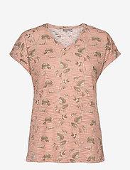 Fransa - FRVEIREG 1 T-shirt - t-shirts - misty rose mix - 0