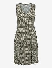 Fransa - FRAMDOT 3 Dress - midi jurken - dusty olive graphic mix - 0
