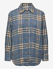 Fransa - FXTEJACKET 1 Shirt - overshirts - dusty blue mix - 0